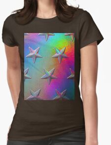 PSYCHEDELIC STARS. Womens Fitted T-Shirt