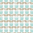 blue tulips in rows by demonique