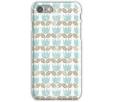 blue tulips in rows iPhone Case/Skin