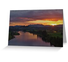 Manning Sunset Greeting Card