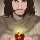 The Sacred Heart of Jesus by Rowan  Lewgalon
