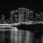 Brisbane and the river at night. by Nicholas Griffin