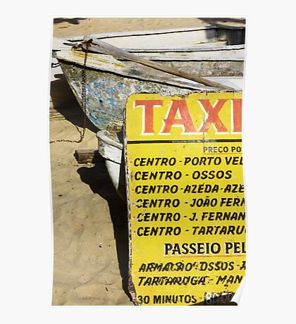 Water taxi, Buzios, Brazil Poster