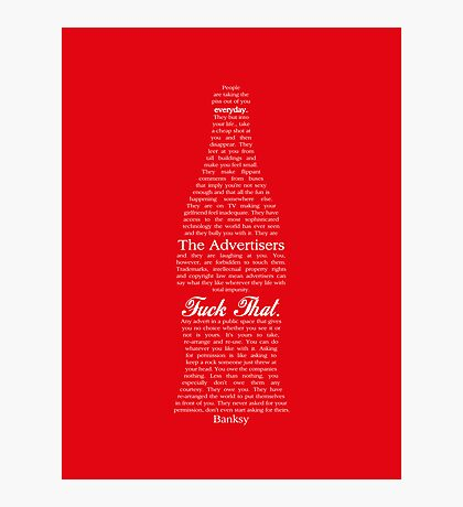 pbbyc - Banksy Advertising  Photographic Print