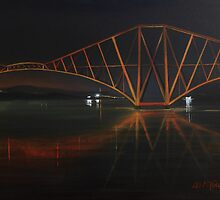 """The Rail Bridge"" (Image of an Oil Painting) by LBMcNicoll"