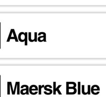 Brick Sorting Labels: Salmon, Light Green, Aqua, Maersk Blue, Violet Sticker