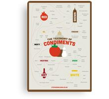 The Taxonomy of Condiments Canvas Print