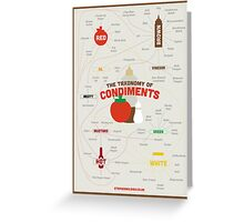 The Taxonomy of Condiments Greeting Card