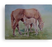 Hanging with Mom Metal Print