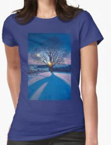 Atonement Tree - acrylic on canvas Womens Fitted T-Shirt
