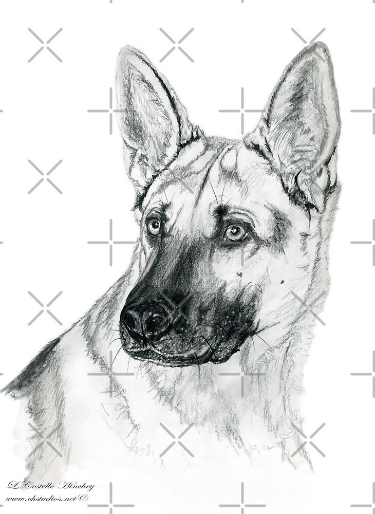 German Shepherd 2 by Linda Costello Hinchey