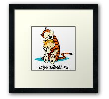 Hug Calvin and Hobbes Framed Print