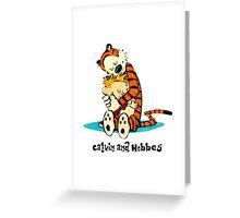 Hug Calvin and Hobbes Greeting Card