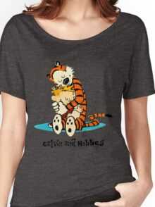 Hug Calvin and Hobbes Women's Relaxed Fit T-Shirt