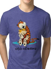 Hug Calvin and Hobbes Tri-blend T-Shirt
