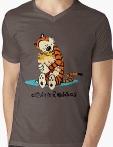 Hug Calvin and Hobbes Mens V-Neck T-Shirt