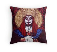 Santissima Muerte Throw Pillow
