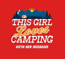 This Girl Loves Camping With Her Husband Womens Fitted T-Shirt