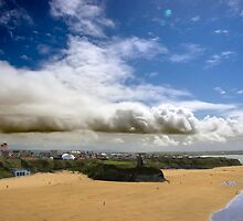 Ballybunion town view and beach by morrbyte