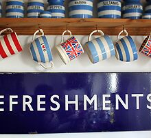 Refreshments -Old Railway Sign by AndyLanhamArt