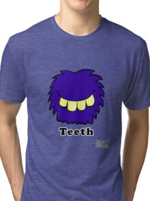 Linty & the Fuzzballs - Teeth Tri-blend T-Shirt