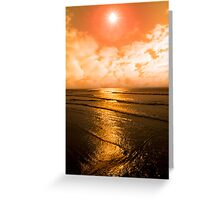 sunset over the sea in Ireland Greeting Card