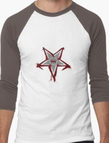 Bloody Pentagram 666 T-shirt Men's Baseball ¾ T-Shirt