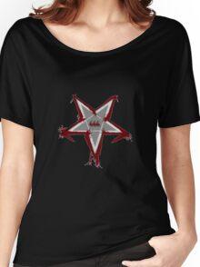 Bloody Pentagram 666 T-shirt Women's Relaxed Fit T-Shirt