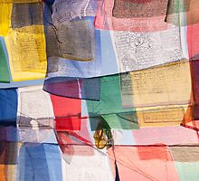 Bodnath prayer flags by Christopher Cullen