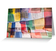 Bodnath prayer flags Greeting Card