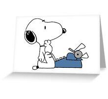 Snoopy Writes Greeting Card