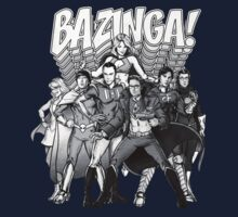 The Big Bang Theory - Bazinga (greyscale) by r3ddi70r