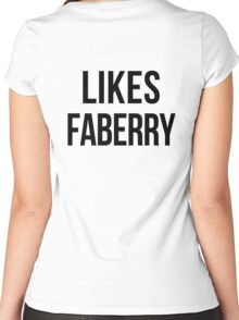 LIKES FABERRY Women's Fitted Scoop T-Shirt
