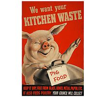 Reprint of a WWII Propaganda Poster Photographic Print
