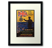 Reprint of a WWI Recruitment Poster Framed Print