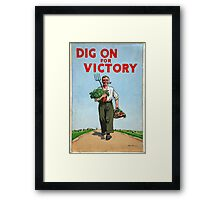 Reprint of a WWII Propaganda Poster Framed Print
