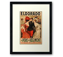 Reprint of a French Army Recruiting Poster Framed Print