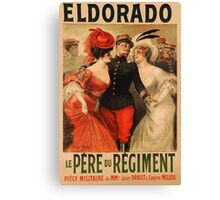 Reprint of a French Army Recruiting Poster Canvas Print