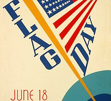 Reprint of the 1939 Flag Day Poster by chris-csfotobiz