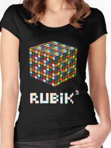 Rubik Cube Women's Fitted Scoop T-Shirt