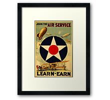 Reprint of a Pre-WW2 US Recruiting Poster  Framed Print