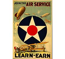 Reprint of a Pre-WW2 US Recruiting Poster  Photographic Print