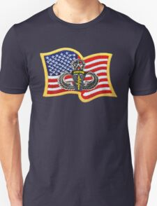 Special Forces Patch with U.S. Flag T-Shirt