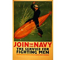 Reprint of a WW2 US Navy Recruiting Poster  Photographic Print