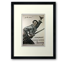 Reprint of a WW1 French Recruiting Poster  Framed Print