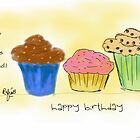Cupcake Quote Illustration Birthday Wish by rafiashujaat