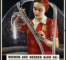 Reprint of a WW2 US Female Recruiting Poster  by chris-csfotobiz