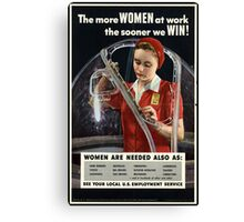 Reprint of a WW2 US Female Recruiting Poster  Canvas Print