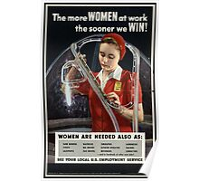 Reprint of a WW2 US Female Recruiting Poster  Poster