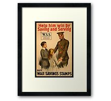 Reprint of a WWI Propaganda Poster Framed Print
